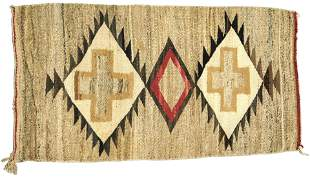 "RUG: Native American Navajo rug, 4' 3"" x 2' 2"", wool on"