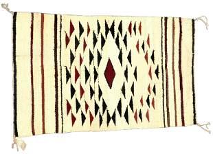 "RUG: Native American Navajo rug, 3' 6"" x 2' 2"", wool on"