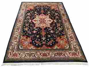"RUG: Indo-Persian carpet, 13' 9"" x 10' 2"", hand-woven,"