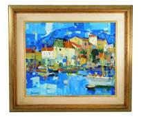 Pierre Bordenave (France, 1900-1970), oil on canvas,