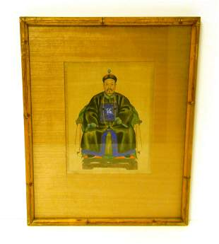 ASIAN: 19th / 20th C. hand-painted depiction of