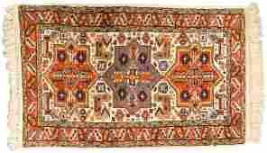 RUG: Modern Caucasian-style handwoven scatter rug, 3