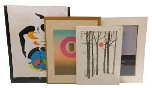 "Four modern prints: Edward Girard, ""Madonna"" color"