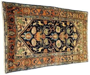 "RUG: Antique Persian Kurd Hammadan, 6'7"" x 4'1"", wool"