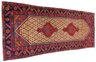 "RUG: Semi-Antique Persian Serab, 3' 5"" x 8' 11"", navy"