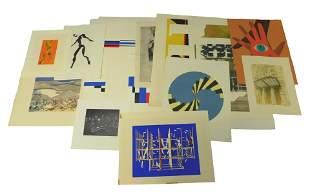 Fifteen Contemporary American silkscreens, etchings,