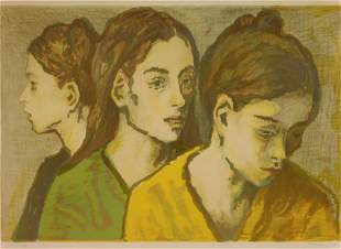 Moses Soyer (American, 1899-1974), color lithograph,