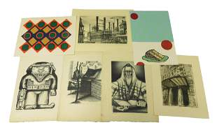 Seven contemporary (1969-1999) American prints, mostly