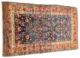 "RUG: Antique Persian Kurd/Hamadan, 6'4"" x 3'8"", wool on"