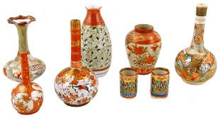 ASIAN: Small Japanese ceramic vases, 19th/20th C.,