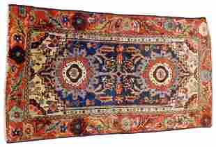 "RUG: Antique Northwestern Persian Scatter, 4'7"" x 2'5"","