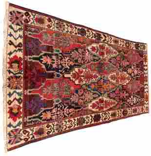 "RUG: Semi-Antique Persian Bakhtiari, 5' 6"" x 10', field"