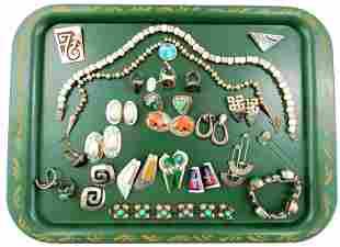 SILVER: 20+ Navajo, Taxco, Mexican, etc. bracelets,