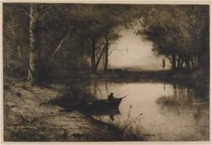 Adolphe Appian (France) 1818-1898. Pêcheur en
