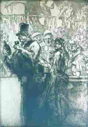 Frank Brangwyn (British) 1867-1956. The Beer Shop (Le