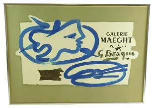 Georges Braque (France) 1882-1963. Profil à la