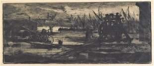 Félix Buhot (France) 1847-1898. Un vieux chantier