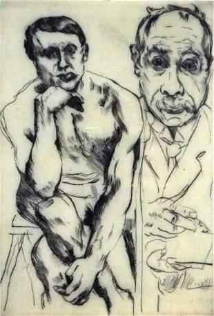 Lovis Corinth (Germany) 1858-1925. Self-Portrait and