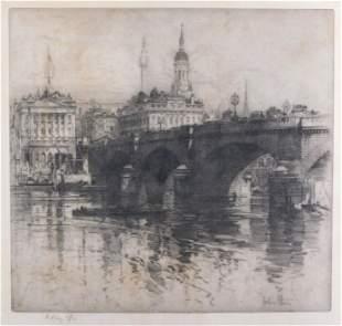 Hedley Fitton (British) 1859-1929. London Bridge.