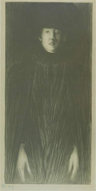 Norbert Goeneutte (France) 1854-1894. Femme debout.