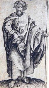 Martin Schongauer (Germanic) c. 1435-1491. St. Thomas.