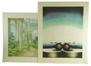 Mark Andrews (British) b. 1957. Atlas I. Etching and