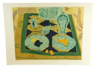 Pierre Boncompaim (France) b. 1938. Table Still-life -