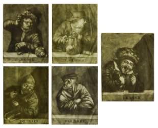 Pieter Pickaert (Netherlands) 1670-1732. The Five