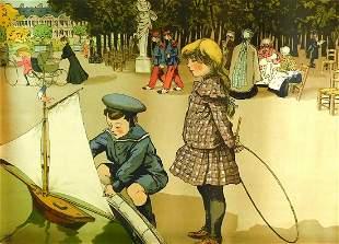 Abel Truchet (France) 1857-1918. Aux Tuilleries.