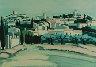 Jean-Claude Quillici (France) b. 1941. Spanish Village.
