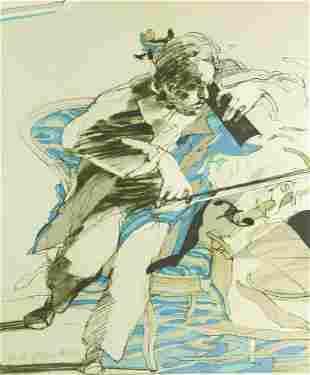Claude Weisbuch (France) 1927-2014. Cello Player.