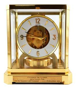 Le Coultre Atmos mantel clock, Fifteen Jewels, Swiss,