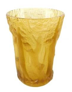 C. 1930 Art glass vase, likely Barolac