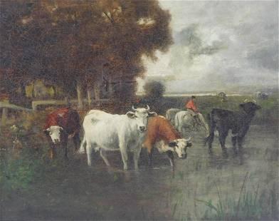 Charles T. Phelan (American, b. 1840), oil on canvas,