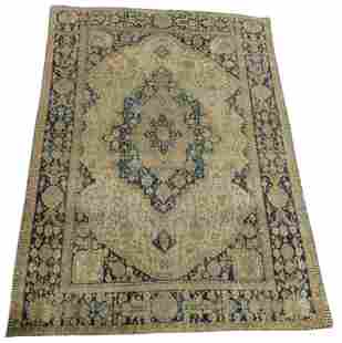 """RUG: Antique Persian Kashan, 7' x 9' 6"""", finely woven,"""