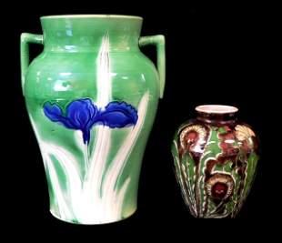 Two pieces of Art Nouveau ceramics, including a Royal