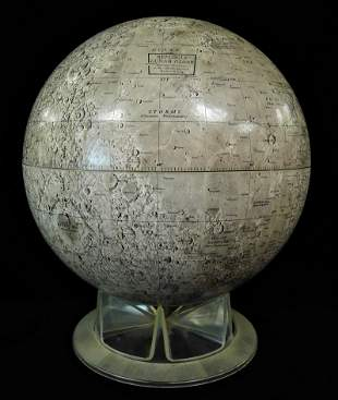 Replogle Lunar Globe, with clear plastic stand, surface