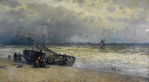 Henry (Harry) Chase (American, 1853 - 1889), oil on