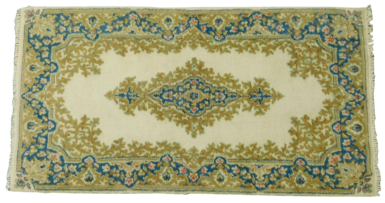 """RUG: Modern Persian Kermin scatter rug, 65"""" x 35"""", wool"""