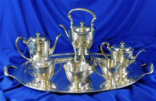 STERLING: Tiffany & Co. tea and coffee service, seven