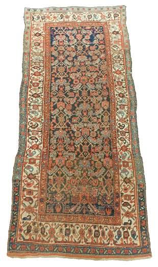 "RUG: Antique Persian Kurd Bijar scatter rug, 8' 3"" x 3'"