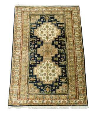 "RUG: Modern Shirvan Caucasian design scatter rug, 6' 2"""