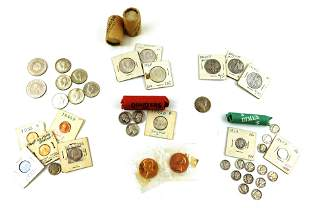 COINS: Lot of US Silver coins and type coins. Includes