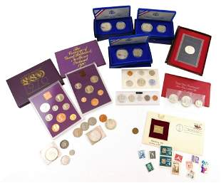 COINS: Balance of coin collection. Includes: three 2