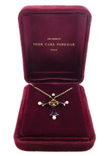 "JEWELRY: 14K House of Igor Carl Faberge ""The Sapphire"