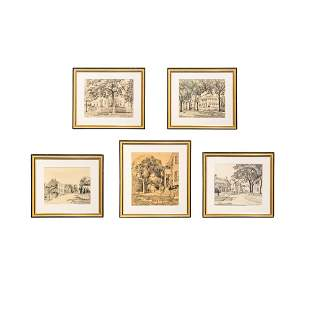 Five Lithographs by Ruth H. Sutton