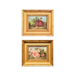 Pair of Floral Still Life Paintings