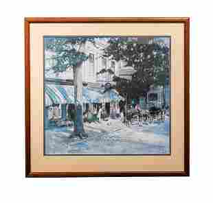 Petticoat Row Colored Lithograph by Tony Sarg