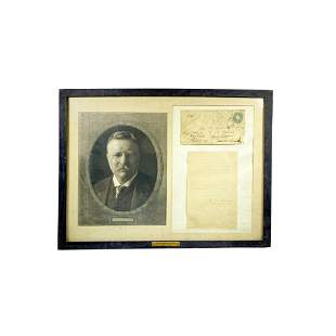 Framed Document Group, Photo of Theodore Roosevelt,