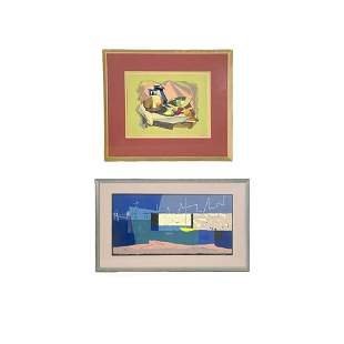 Two Framed Lithographs by Phillip Hicken